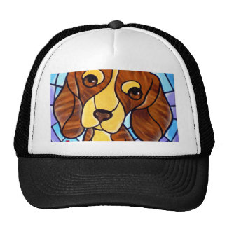 Pet Dog Painting Art - Multi Trucker Hats