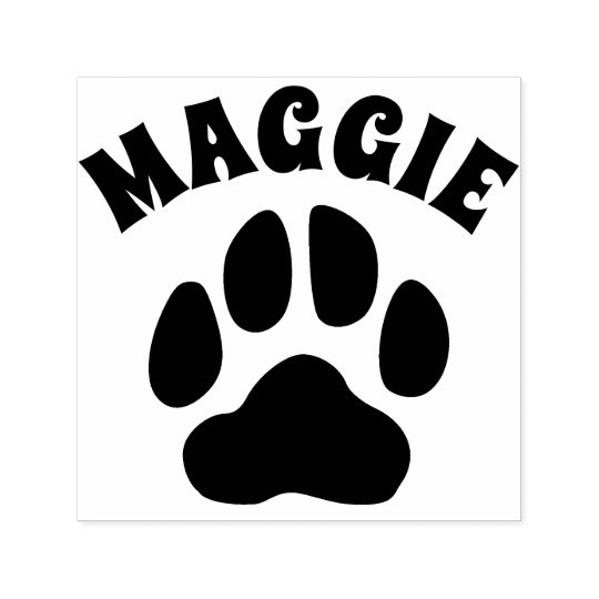 1.1 inches 30mm Tall Image Area Black Ink Some can be Customized with Your own Text Dog Paw Print Rubber Stamp Several Sizes to Choose from Small Self-Inking