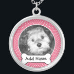 "Pet Dog Photo Template Frame Silver Plated Necklace<br><div class=""desc""></div>"