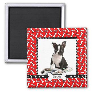 Pet Dog Portrait Photo Template Fridge Magnet
