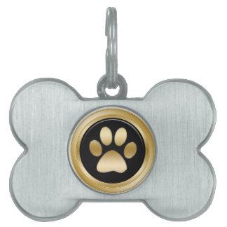 Pet Dog Tags Paw Design Pet ID Tag