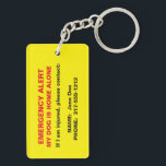 "Pet Emergency Alert Keychain<br><div class=""desc"">Alert emergency personnel that you have a pet at home alone! If you are injured or incapacitated, this double-sided keychain has the customizable contact information of your pet&#39;s emergency caretaker. You can add more contact information if needed. Check out our wallet business cards that also have emergency alert information so...</div>"