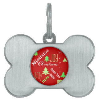 Pet first Christmas cute Pet Name Tag