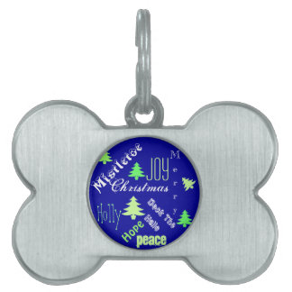 Pet first Christmas cute Pet Name Tags
