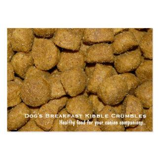 Pet Food Dog Kibble Large Business Card