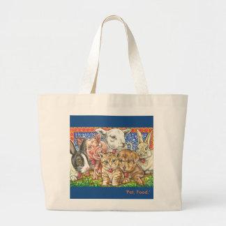 'Pet, Food.' large tote bag