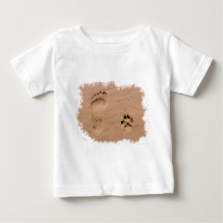 Pet & Footprint in the Sand Baby T-Shirt
