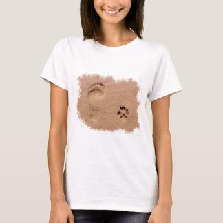 Pet & Footprint in the Sand T-Shirt
