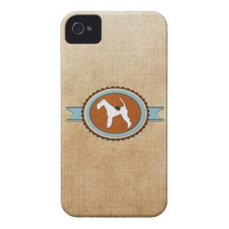 Pet Fox Terrier Dog Emblem Badge Case-Mate iPhone 4 Case