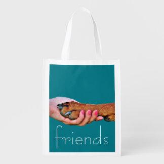 Pet Friendly-Hand Holding Dog Paw - Resuable Bag