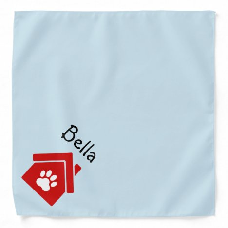 Pet Friendly Logo or Image & Name Neckerchief Bandana