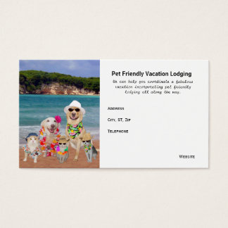 Pet Friendly Vacation Destinations Business Card