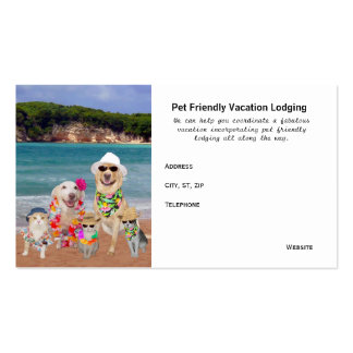 Pet Friendly Vacation Destinations Double-Sided Standard Business Cards (Pack Of 100)