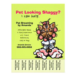 """Pet Groomer Dog Grooming Personalized Tear Sheet 8.5"""" X 11"""" Flyer"""