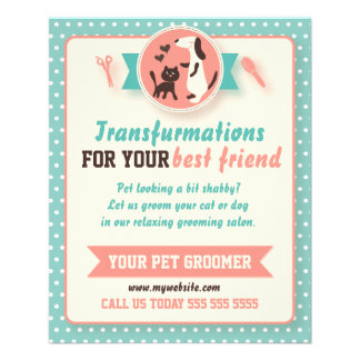 Dog Grooming Flyers Template | Dog Groomer Flyers Programs Zazzle