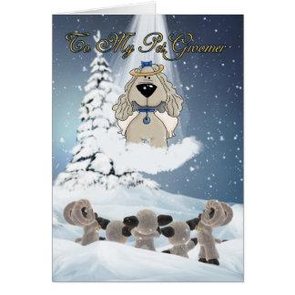 Pet Groomer Holiday Card - Season's Greetings