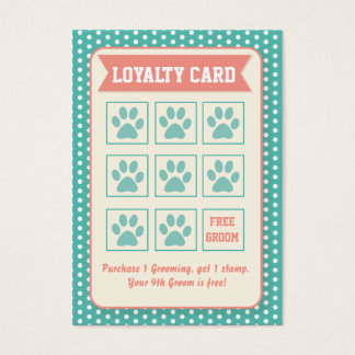 Pet Groomer Loyalty Card - Personalizable