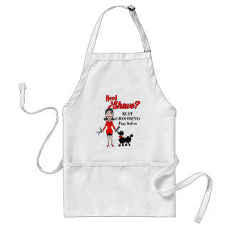 Pet Groomer Red and Black Need a Shave Custom Adult Apron
