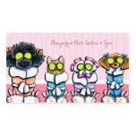 Pet Groomer Spa Dogs Cat Robes Pink Appointment Double-Sided Standard Business Cards (Pack Of 100)