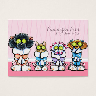 Pet Groomer Spa Dogs Cat Robes Pink Business Card