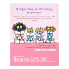 Pet Groomer Spa Dogs Cat Robes Pink Coupon Ad Flyer