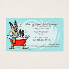 Pet Groomer Spa Wet Dogs Carribean Appointment Business Card at Zazzle
