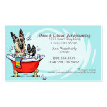 Pet Groomer Spa Wet Dogs Carribean Appointment Double-Sided Standard Business Cards (Pack Of 100)