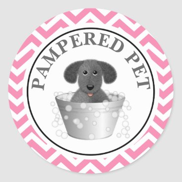 Professional Business Pet Groomer Sticker