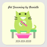 Pet Groomer's Promotional Square Sticker