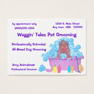 Pet Grooming Appointment And Business Card