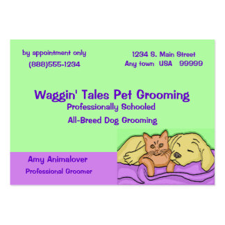Pet Grooming Appointment Card Large Business Card