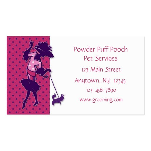 Pet grooming business card zazzle for Pet grooming business cards