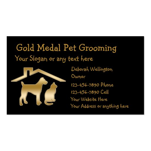 Dog grooming business card templates page5 bizcardstudio for Pet grooming business cards