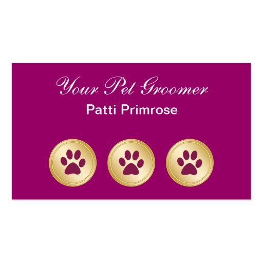 Pet grooming business cards zazzle for Pet grooming business cards