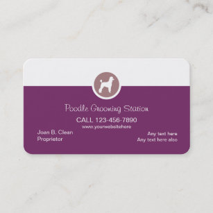 pet grooming business cards - Dog Grooming Business Cards