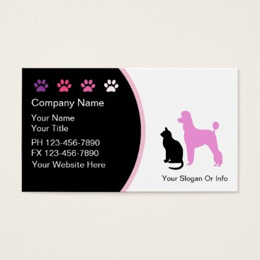new,or,pet Pet Grooming Business Cards New
