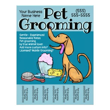 Professional Business Pet Grooming Business Dog Groomer Customizable Flyer