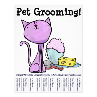 Pet Grooming! Cat Flyer