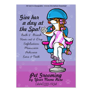 Pet Grooming Dog Care Advertising Template Card