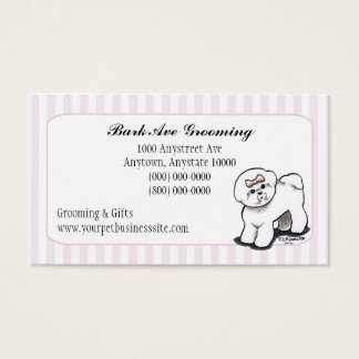 Pet Grooming Dog Groomer Spa Fancy Stripes Business Card