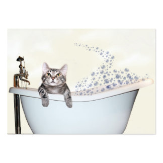 Pet grooming large business card