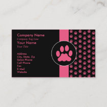 Pet Grooming PawPrint Business Card