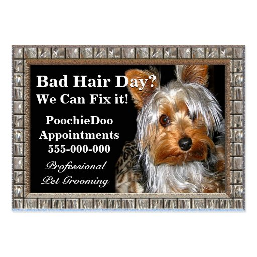 Pet Grooming Poochie Professional Large Business Cards (Pack Of 100)