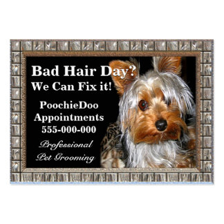 Pet Grooming Poochie Professional Large Business Card