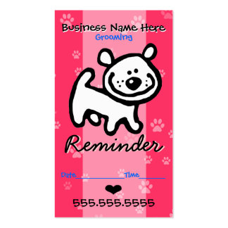 Pet Grooming.Veterinary Clinic.Dog Appointment Business Card Templates
