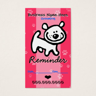 Pet Grooming.Veterinary Clinic.Dog Appointment Business Card