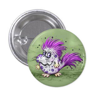 PET GROOVE ALIEN  Button Small, 1¼ Inch