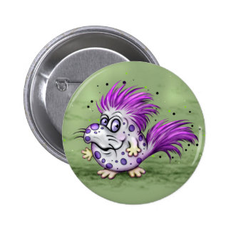 PET GROOVE ALIEN  Button Standard, 2¼ Inch