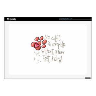 """PET HAIRS DECAL FOR 17"""" LAPTOP"""
