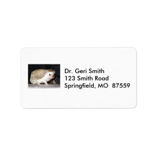 Pet Hedgehog Label